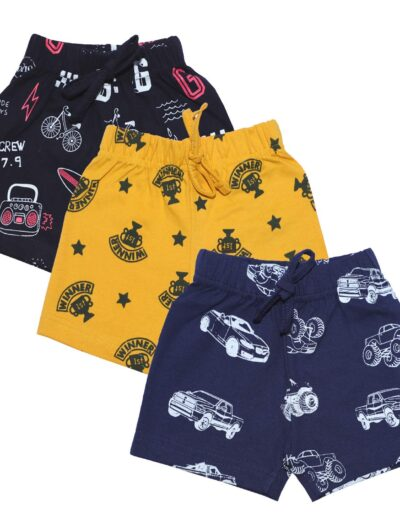 OLIO KIDS Cotton Boy's Shorts Pack