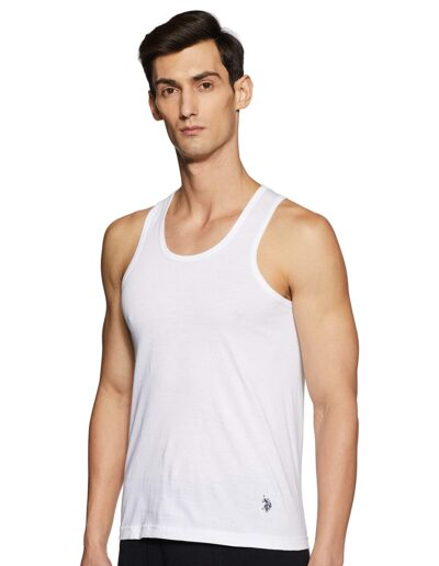 U.S. Polo Assn. Mens Round Neck Solid Vest