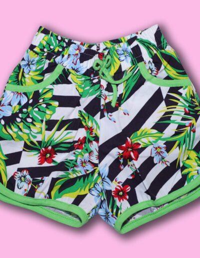 BENAVJI Girl's Cotton Floral Printed Shorts