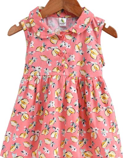 Cucmber Frock with Full Sleeves Inner Tee Floral Print
